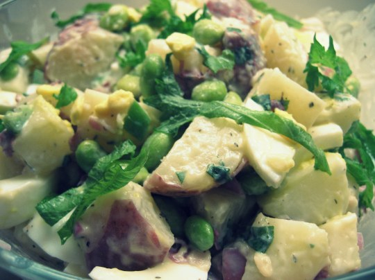 Shiso and Edamame Potato Salad