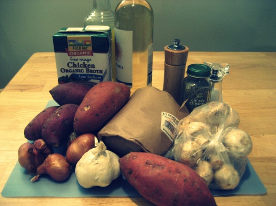 Ingredients for Slow-Cooker Chicken and Sweet Potato Stew