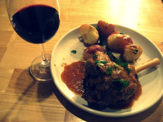 Braised Lamb Shank with Roasted Potatoes